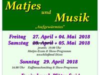 Matjes und Musik im Schützenhaus