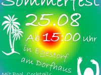 Einladung zum Sommerfest 25.08.2018 15 Uhr