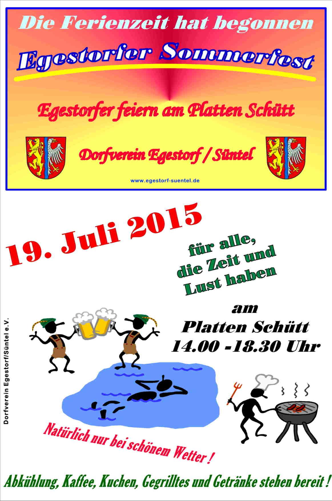 Einladung Sommerfest Dorfverein