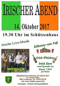 Plakat Irischer Abend