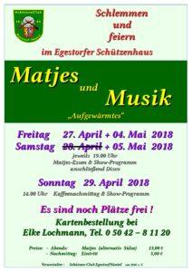 Einladung Matjes und Musik
